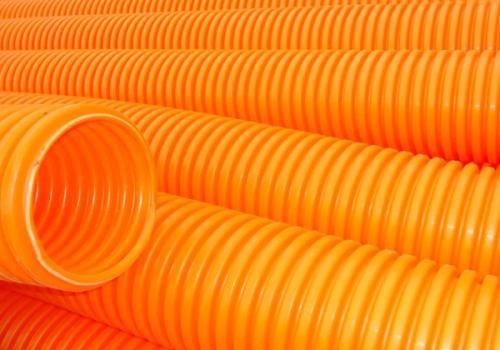 顺德桔橙色阻燃波纹管