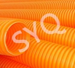 桔橙色阻燃波纹管