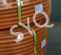 特殊橙色尼龙波纹管